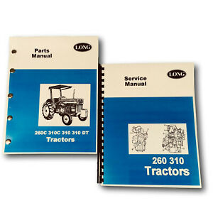 Long 310 Tractor Service Repair Shop Manual Parts Catalog Technical Book Numbers