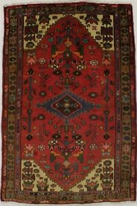Great Semi Antique Hand Knotted Hamedan Persian Rug Oriental Area Carpet 3 5x5