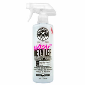 Chemical Guys Wrap Detailer Gloss Enhancer Protectant For Vinyl Wraps 16 Oz