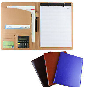 Top Quality Pu Leather Organizer Binder Notebook Business Conference Planner