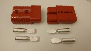 2 Connectors Plugs contacts 0awg Sb175a 600v Forklifts Boats 4x4