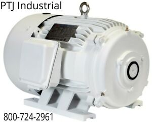 30 Hp Electric Motor For Rotary Phase Converter 286t Tefc 208 230 460 No Shaft