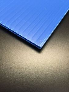 6mm Blue 24 X 36 4 Pack Corrugated Plastic Coroplast Sheets Sign