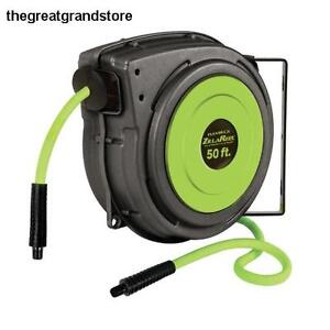 Legacy Flexzilla 3 8 X 50 Retractable Plastic Air Hose Reel 150psi Zillareel