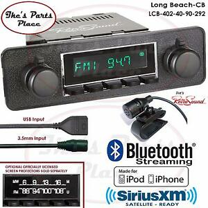 Retrosound Long Beach Cb Radio Bluetooth Ipod Usb Mp3 Rds 3 5mm Aux In 402 40 Vw