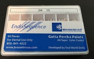 1 New Pack Of Brasseler Endosequence Gutta Percha Points Size 15 Taper 04