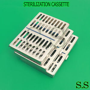10 Dental Autoclave Sterilization Cassette Rack Box Tray For 10 Instrument