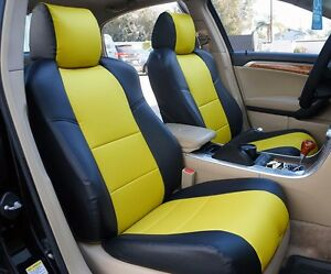 Acura Tl 2004 2008 Black Yellow S Leather Custom Front Seat Cover