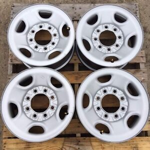 Chevy Gmc Truck Van 16 8 Lug On 6 5 Gray Steel Wheels Rims Oem 09595396