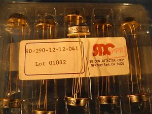 1 Sd 290 12 12 041 Silicon Dector Corp Enhanced Pin Photodiode Gold Plated