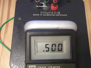General Radio Standard Inductor 1482 d 500uh 0 5mh Free Shipping