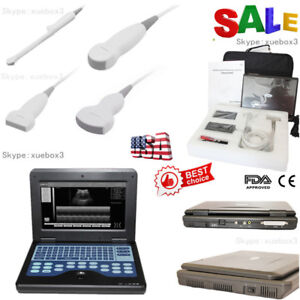 Usa Fedex Digital Ultrasound Scanner Portable Laptop Machine 2 Probes Ce Fda