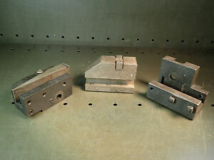 3 Piece Lot Of Lathe Tool Posts Fit Brown Sharpe 2 Automatics Used Good Cond