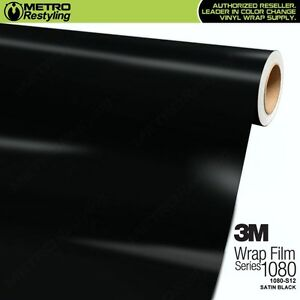 3m 1080 S12 Satin Black Vinyl Vehicle Car Wrap Decal Film Sheet Roll