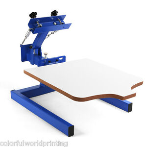 New 1 Color 1 Station Silk Screen Printing Machine 1 1 Press Diy T shirt Print
