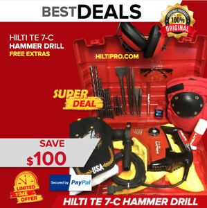 Hilti Te 7 c Hammer Drill Preowned Free Smart Watch A Lot Extras Fast Ship