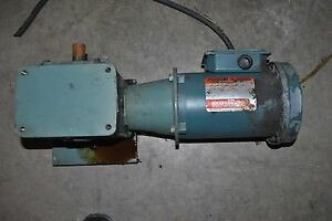 Reliance Electric S 2000 Gear Reducer W motor 1 2 Hp