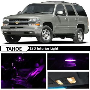 20x Purple Full Interior Led Lights Bulbs Package Kit For 2000 2006 Chevy Tahoe