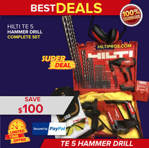 Hilti Te 5 Hammer Drill Preowned Free New Sid 2 a Drill Extras Quick Ship