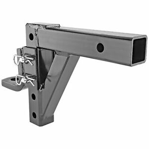 Raise Drop Adjustable Ball Mount Hitch Towing Trailer Haul Truck Pickup Suv