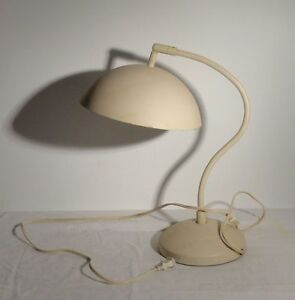 Vintage Mid Century Modern Desk Lamp Light Beige White Unknown Maker