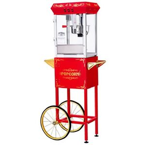Great Northern Red All star Popcorn Popper Machine Cart 8 Oz