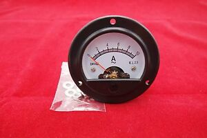 1pc Ac 0 10a Round Analog Ammeter Panel Amp Current Meter Dia 66 4mm Dh52