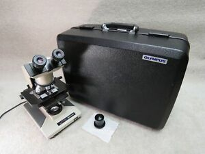 Olympus Bh 2 Bhtu Microscope With 4 Objectives 2 Condensers abbe Darkfield