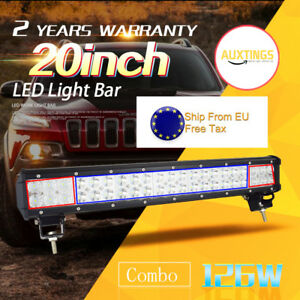 New 20 Inch 126w Led Light Bar Combo Offroad Driving Lamp 4wd Work Atv Ute 20