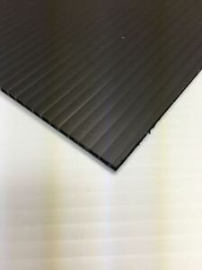 10mm Black 36 In X 24 In 4 Pack Corrugated Plastic Coroplast Sheets Sign