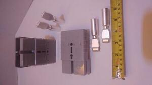 Connectors plugs pins 2 0 Awg Anderson Style Sb350a 600v Forklifts 4x4