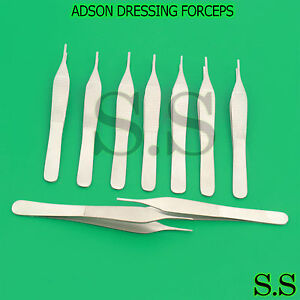 12 Premium Grade Assorted Adson Dressing Serrated Forceps Finr Point 4 75