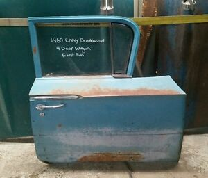 1960 60 Chevy Chevrolet Brookwood Station Wagon Front Rh Door Shipping Included