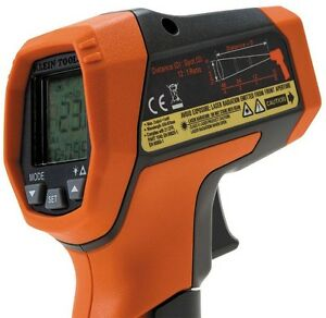 Klein Tools Dual laser Ir5 12 1 Infrared Digital Auto scan Thermometer Gun New