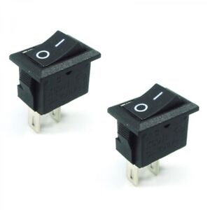 2x On off Switch Black Rocker 10a Small 12v Dc Tension Held Auto car boat truck