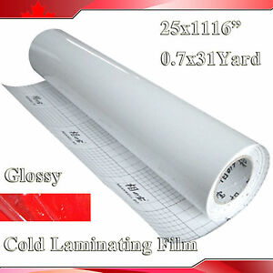3mil Tape Vinyl Cold Laminating Film Glossy 0 7x31yard For Laminator