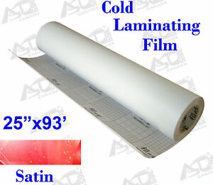 Cold Laminating Film 0 69x31yard Sain Matt Paper Adhesive Glue Vinyl