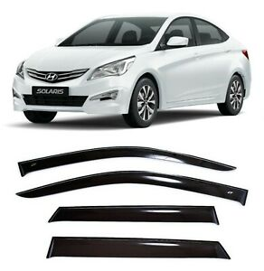 For Hyundai Solaris Verna Sd 10 16 Window Visors Side Rain Guard Vent Deflectors