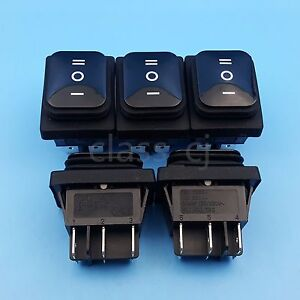 5pcs Black Waterproof 6pin Momentary Mom off mom Dpdt 3position Rocker Switch