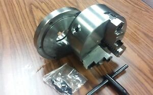 6 3 jaw Self centering Lathe Chuck Top Bottom Jaws W L00 Adapter Back Plate