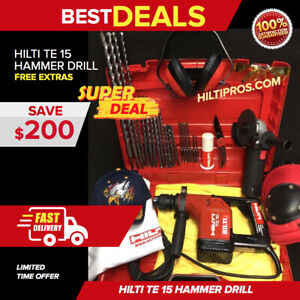 Hilti Te 15 Hammer Drill Preowned Free Grinder Bits Extras Quick Ship