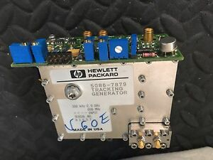 Hp Agilent Spectrum Analyzer 8560e 8560a Tracking Generator 5086 7879 2 9 Ghz