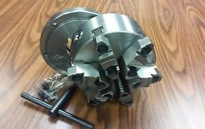 6 6 jaw Self centering Lathe Chuck Top bottom Jaws W L00 Adapter Back Plate