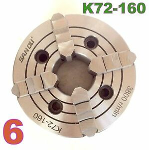 1 Pc Lathe Chuck 6 4jaw Independent Reversible Jaw K72 160 Sct 888