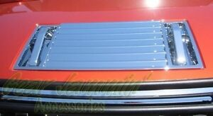 03 09 Hummer H2 Chrome Replacement Hood Deck Vent With Handle Covers