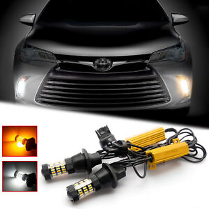 Switchback Led Daytime Running Light Kit Turn Signal For Toyota Camry 2015 2018