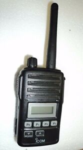 Icom F50v Vhf Portable Radio 100 Tested Narrowband Fire Pager Great Condition