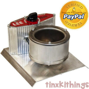 Lead Melter Smelting Pot Cast Molten Ingot Small Electric Sinker Shooter Hunting