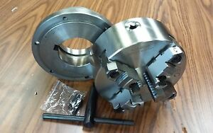 8 4 jaw Self centering Lathe Chuck Top bottom Jaws W L1 Adapter Plate new