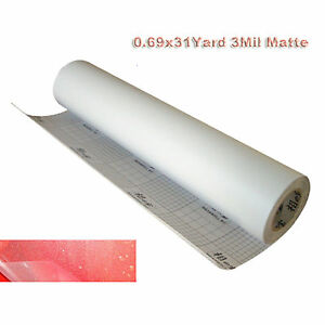 0 69x31yd 25 1116in 3mil Matte Frosted Vinyl Cold Laminating Film Laminator